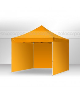 Carpa plegable CarpaPro® Basic ACERO+3 paredes 3x3 m - NARANJA