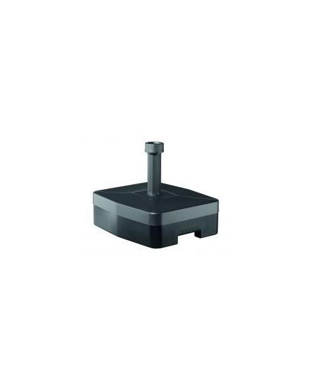 Base de resina rellenable con ruedas, 40 kg