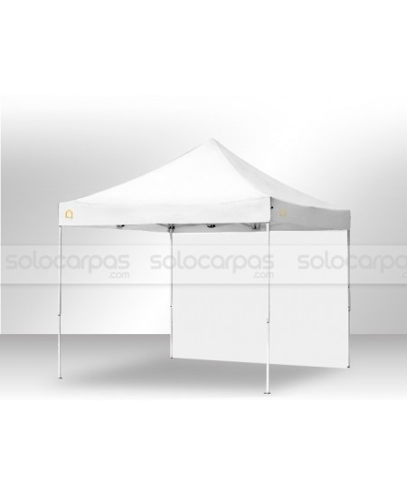 Carpa plegable CarpaPro™ Basic ACERO 3x3+1 pared