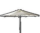 Parasoles y sombrillas de aluminio
