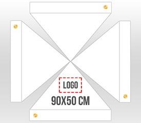 Personalización en 1 cara logo 90x50 cm