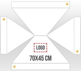 Personalización en 1 cara logo 70x45 cm